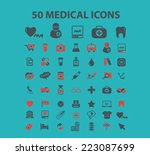 50 medical  medicine  health... | Shutterstock .eps vector #223087699