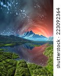 alien planet   3d rendered... | Shutterstock . vector #223092364