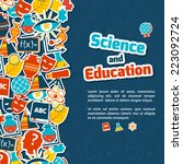 science and education areas... | Shutterstock .eps vector #223092724