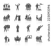 leadership global organization... | Shutterstock .eps vector #223093396