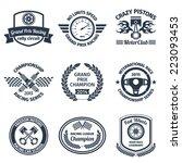 grand prix racing crazy pistons ... | Shutterstock .eps vector #223093453
