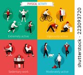 physical activity flat set of... | Shutterstock .eps vector #223093720