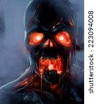 Zombie Face. Skeleton Zombie...