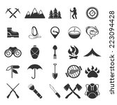adventure web icons set flat... | Shutterstock .eps vector #223094428