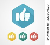 vector cursor thumb up like... | Shutterstock .eps vector #223109620