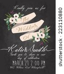 wedding invitation card with... | Shutterstock .eps vector #223110880
