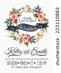 wedding invitation card with... | Shutterstock .eps vector #223110883