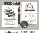 wedding invitation card suite... | Shutterstock .eps vector #223110886
