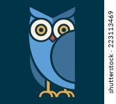 Stock vector owl vector 223113469