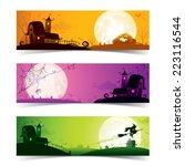 halloween banner   Shutterstock .eps vector #223116544