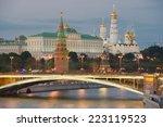 night view of moscow kremlin in ... | Shutterstock . vector #223119523