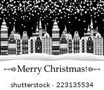 Vintage Christmas Card. Winter...
