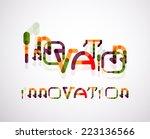 innovation word concept ... | Shutterstock .eps vector #223136566