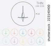 fishing sign icon. float bobber ... | Shutterstock .eps vector #223140400