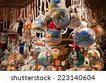 christmas ornaments in a fair   ...   Shutterstock . vector #223140604