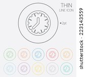 clock time sign icon.... | Shutterstock .eps vector #223143559