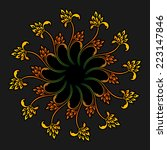 vector coloured floral round... | Shutterstock .eps vector #223147846