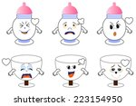 electric bulb emoticons | Shutterstock .eps vector #223154950