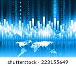 3d render of stock market chart.... | Shutterstock . vector #223155649
