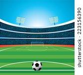 soccer stadium | Shutterstock .eps vector #223156390