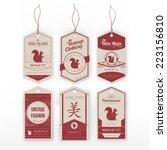 vintage clothing label | Shutterstock .eps vector #223156810
