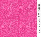 france seamless background | Shutterstock .eps vector #223160434