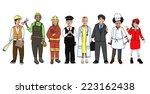 children wearing future job... | Shutterstock . vector #223162438