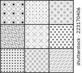 9 different seamless patterns.  ...   Shutterstock .eps vector #223170406