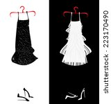 two dresses | Shutterstock . vector #223170490