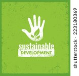 sustainable development... | Shutterstock .eps vector #223180369
