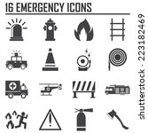 emergency icons  mono vector... | Shutterstock .eps vector #223182469