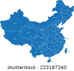 china map | Shutterstock .eps vector #223187260