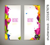 set of polygonal geometric... | Shutterstock .eps vector #223187878