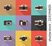 retro icon  flat design vector...   Shutterstock .eps vector #223194820