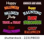 hallowen text styles   use... | Shutterstock .eps vector #223198033