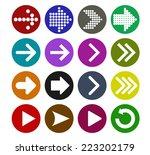 arrow sign icon set  vector... | Shutterstock .eps vector #223202179