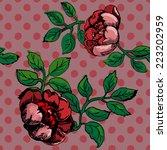 vector seamless vintage pattern ... | Shutterstock .eps vector #223202959