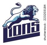 lion jump | Shutterstock .eps vector #223203184
