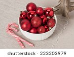 Christmas Decoration. Red Ball...