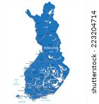 finland map | Shutterstock .eps vector #223204714