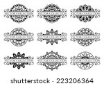 calligraphic design elements.... | Shutterstock .eps vector #223206364