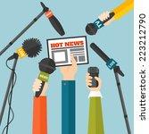 journalism concept vector... | Shutterstock .eps vector #223212790