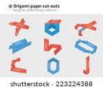 origami   paper cut outs | Shutterstock .eps vector #223224388