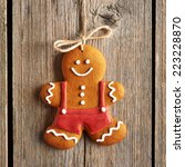 christmas homemade gingerbread... | Shutterstock . vector #223228870