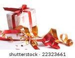 celebratory tapes  gift | Shutterstock . vector #22323661