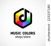 Music Colors Logo Template....