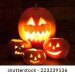 jack o' lantern at night | Shutterstock . vector #223239136