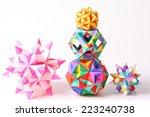 colorful geometric origami ball ...   Shutterstock . vector #223240738