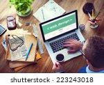 designer working on the laptop   Shutterstock . vector #223243018