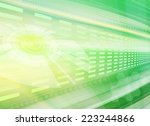 green abstract technology... | Shutterstock . vector #223244866